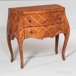 Diminutive Marquetry Bombe Commode