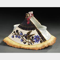 Luneville Pottery Floral Basket