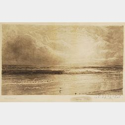 William Trost Richards Etching of a Seascape