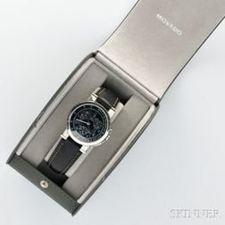 Movado Vizio Men's Black Leather Chronograph