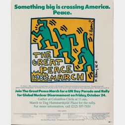 Keith Haring (American, 1958-1990)      The Great Peace March