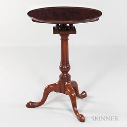 Mahogany Circular Top Candlestand