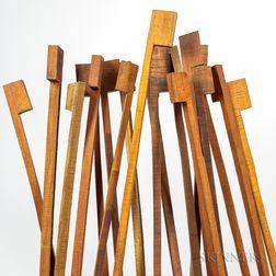 Twenty Pernambuco Bow Blanks