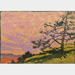 Margaret Jordan Patterson (American, 1867-1950)      Lone Pine at Sunset