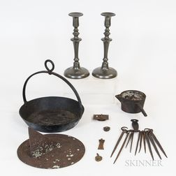 Small Group of Metal Domestic Items