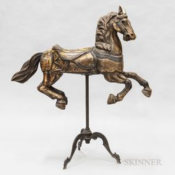 Diminutive Polychrome and Carved Wood Carousel Horse
