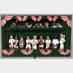 Red Sox Dugout Folk Art Sculpture
