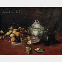 William Merritt Chase (American, 1849-1916)      Still Life: Fruit