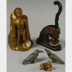 Five Assorted Figural Metal Items