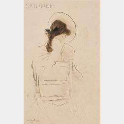 Jacques Villon (French, 1875-1963)      Jeune fille vue de dos