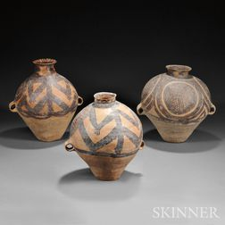 Three Large Pottery Neolithic-style Jars