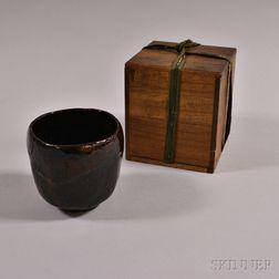 Raku Tea Bowl with Box