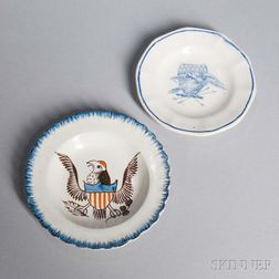 Two Eagle-decorated Cup Plates