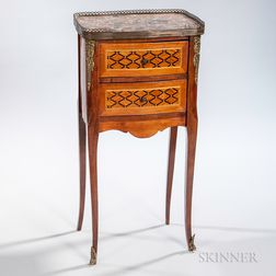 Louis XVI-style Marquetry Gueridon