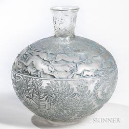 "Rene Lalique ""Lievres"" Vase"