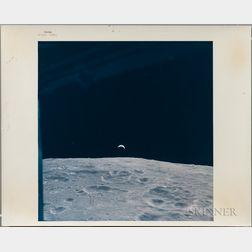 Apollo 12, Crescent Earthrise, November 1969.