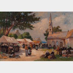 Eugène Demester (French, b. 1914)      Breton Market