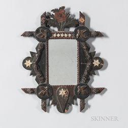 Painted Tramp Art Mirror