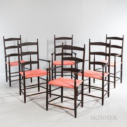 "Set of Six Shaker ""No. 5"" Production Armchairs"