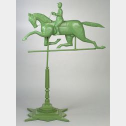 Trotting Horse Folk Art Weather Vane