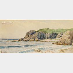 Alfred Thompson Bricher (American, 1837-1908)      Coastal Cliffs.