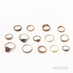 Group of Victorian Rings