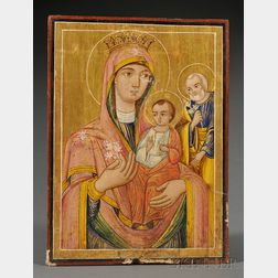 Arabic Christian Icon of the Holy Family