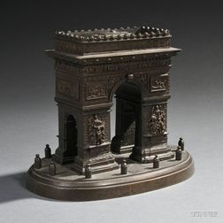 Grand Tour Bronze Model of the Arc de Triomphe