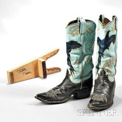 Little Jimmy Dickens     Pair of Vintage Tony Lama Leather Cowboy Boots