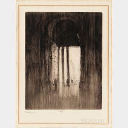 Joseph Pennell (American, 1860-1926)      West Door, St. Paul's