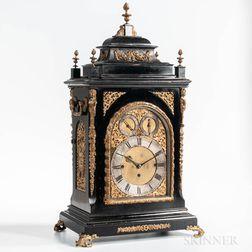 W. Lister & Sons Ebonized Eight-bell Quarter-hour Bracket Clock