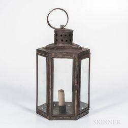 Octagonal Tin Lantern