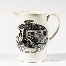 "Small Liverpool Transfer-decorated ""The Honest Waterman"" Jug"