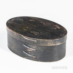 Shaker Dark Green-painted Oval Pantry Box