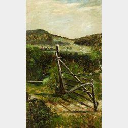 Frank Henry Shapleigh (American, 1842-1906)  Old Gate, Jackson N.H.
