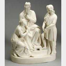 "Wedgwood Carrara Figure Group, ""The Interpretation,"""