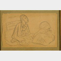 Diego Rivera (Mexican, 1886-1957)      Mujer con Niño