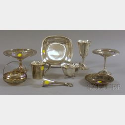 Nine Assorted Sterling Silver Table Items
