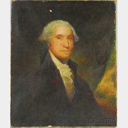After Gilbert Stuart (Late 19th/Early 20th Century)      Portrait of George Washington.