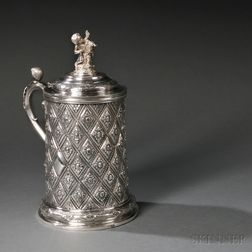 Russian Large .875 Silver Covered Tankard