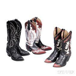 Little Jimmy Dickens     Three Pairs of Leather Cowboy Boots
