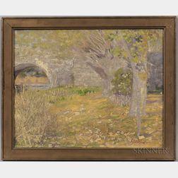 Joseph Henry Hatfield (American, 1863-1928)      Spring Landscape