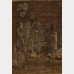 Hanging Scroll Depicting the Three Star Gods