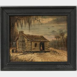 Walter Channing Addison (Massachusetts/Florida, 19th/20th Century)       Florida Cottage Scene.