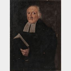 Anglo/American School, Late 18th/Early 19th Century      Portrait of a Minister