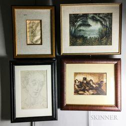 Seven Framed Works