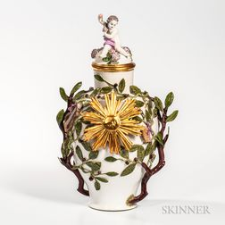 Dresden Porcelain Vase and Cover