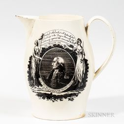 "Liverpool Transfer-decorated George Washington ""Long Live the President of the United States"" Jug"