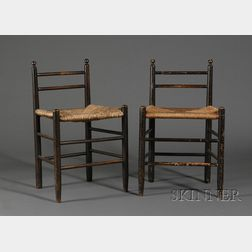 Pair of Shaker Low-back Chairs