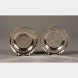 Pair of Paul Storr Silver Charger Plates